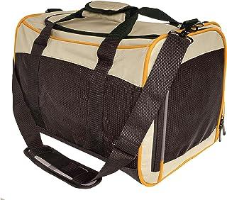 Kurgo Bärväska för husdjur, en storlek – lämplig för små hundar och katter (upp till 8 kg), färg: Sand/orange/svart, vandr...