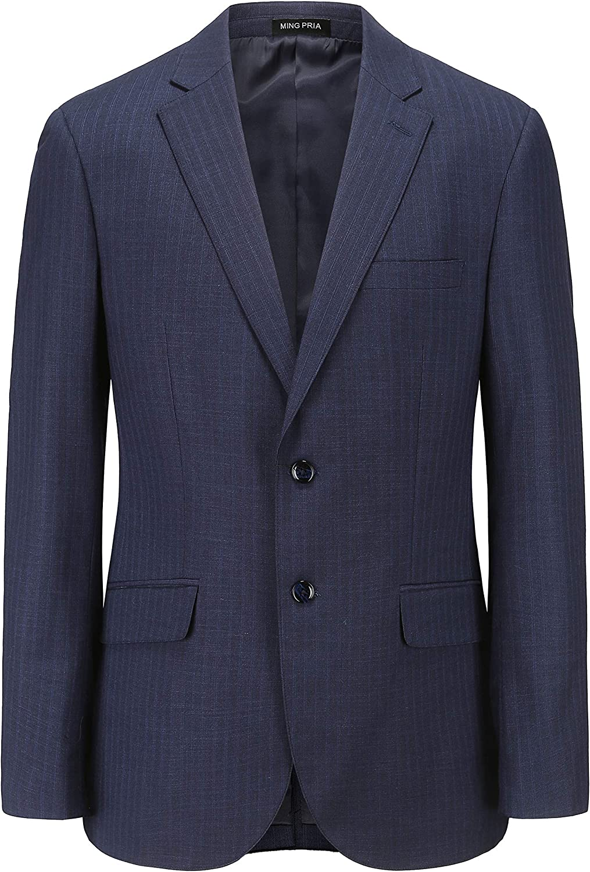 MING PRIA Men's Business Slim Suit Professional Formal Wear Jacket Suit Pinstripe Jacket