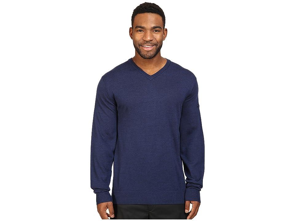 Under Armour Golf Tips V-Neck Sweater (Academy/Cadet) Men