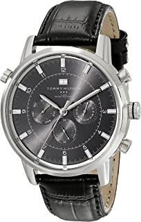 Tommy Hilfiger Harrison Men's Gray Dial Leather Chronograph Watch - 1790875