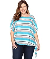 MICHAEL Michael Kors - Plus Size Madison Multistripe Top