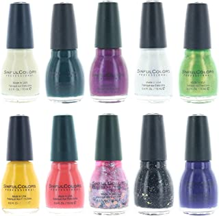 Sinful Colors Finger Nail Polish Color Lacquer Set 10-Piece Collection (Glorious)