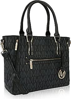 MKF Crossbody Shoulder Handbag for Women Removable Shoulder Strap Vegan Leather Top-Handle Satchel-Tote Bag