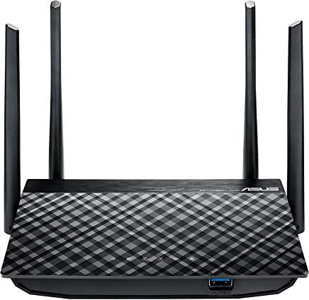 Asus RT AC58U Router Gigabit Wireless AC1300, Dual Band MU-MIMO, Quad Core A7 CPU, 128 MB RAM, 4 Antenne Esterne 5 dBi, Gigabit LAN/WAN, USB 3.0, 8 SSID - Confronta prezzi