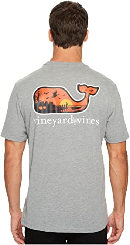 Vineyard Vines - Short Sleeve Halloween Scene Whale Flat Pocket Tee