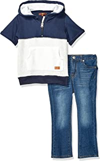 Boys' Toddler Hooded French Terry T-Shirt and Denim Short