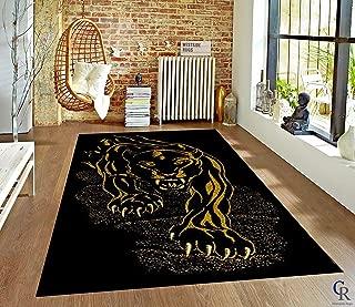 """Black Panther Jaguar Area Rug African Animal Carpet (5' 3"""" X 7' 5"""")"""