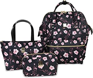 J World New York Posy 3-Piece Backpack with Tote and Pouch