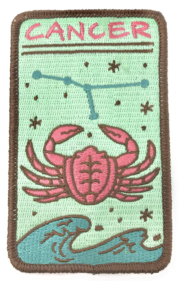 O'Houlihans - Cancer Zodiac Patch - Iron on Patch - Cancer Zodiac Sign - Embroidery Patch