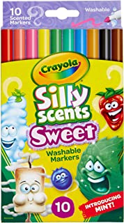 Crayola Silly Scents Washable Scented Markers, 10 Count, Gift for Kids