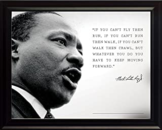 WeSellPhotos Martin Luther King Jr Photo Picture Poster Framed Quote If You Can't Fly Then Run Famous Inspirational Motivational Quotes (8x10 Framed)