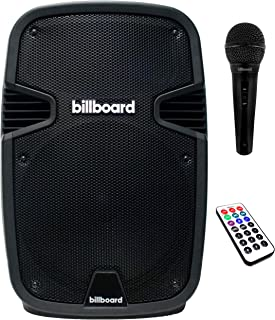 $129 » Billboard Party Pro Wireless Bluetooth Speaker with Karaoke Microphone, Hi-Fi Stereo Sound Machine with SD Card, AUX-In, U...
