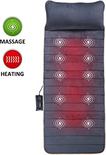 Massage Mat with 10 Vibrating Motors and 4 Therapy Heating pad Full Body Massager Cushion for Relieving Back Lumbar Leg Pain SL-363 Snailax