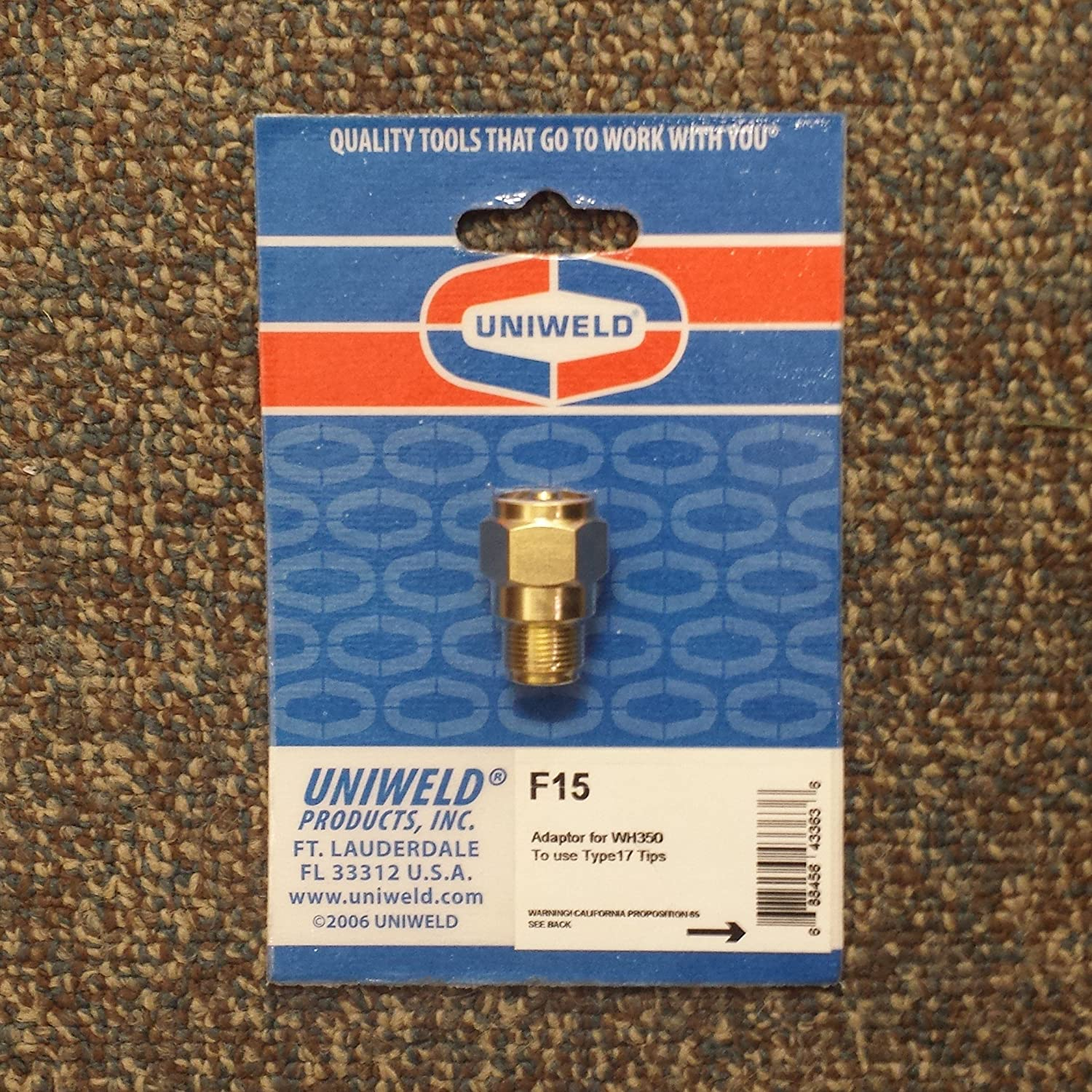 Uniweld ! Super beauty product restock quality top! F15 Adaptor List price for WH350 to use Type17 Brazing Tips Welding