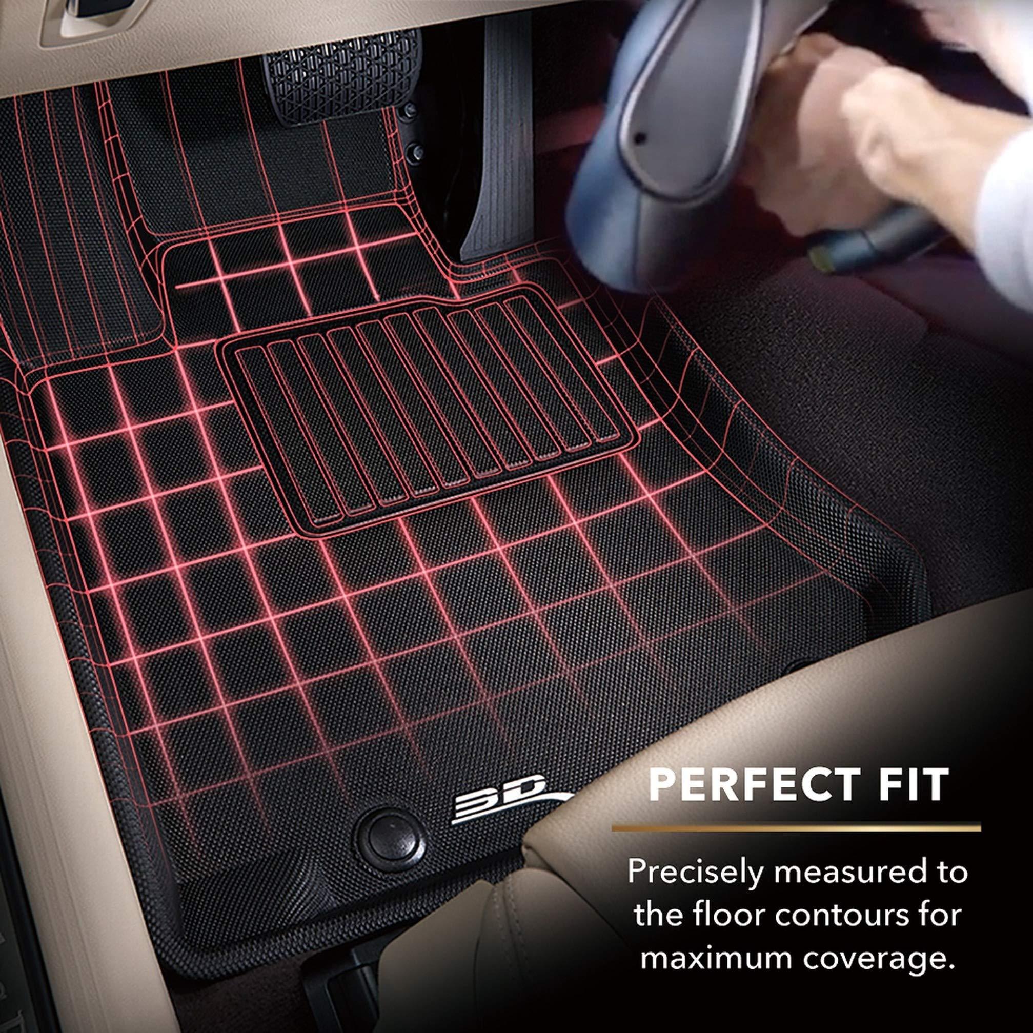 320i 330i All Weather Heavy Duty Floor Mat Set F30//F31 Autotech Park Custom Fit Car Floor Mat Compatible with 2012-2018 BMW 3 Series 340i M340i Rear Wheel Drive