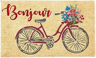 "DII Natural Coir Doormat, Decorative Hello Mat, Bonjour, 18X30"""