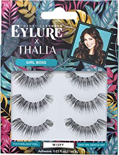 08f41af5210 Eylure Thalia Girl Boss, Multi Pack, Reusable, Adhesive Included, 3 Pairs,