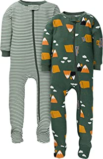 Gerber Baby Boys' 2-Pack Footed Pajamas