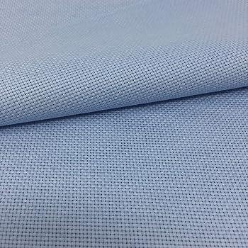 Tela para Punto de Cruz | 75cm x 50cm | 5,5 puntos/cm – 14 cuentas | 100% algodón | Elige color | de Delicatela (Azul Claro): Amazon.es: Hogar