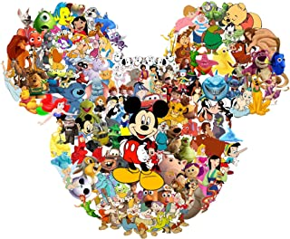 Disney Character Collage - For Light-Colored Materials - Iron On Heat Transfer 8