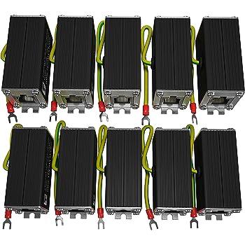 Amazon Com Ethernet Surge Protector 10 Pack Poe Gigabit Gas Discharge Tube For Full Protection Mounting Flange Rj45 Lightning Suppressor Lan Network Cat5 Cat6 Thunder Arrestor 1000 Mbps Tupavco Tp302 Home Audio