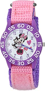 Girls Minnie Mouse Analog-Quartz Watch with Nylon Strap,...