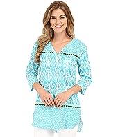 Hatley - Turquoise Ikat Women's Beach Tunic