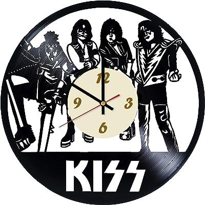 La Bella Casa Kiss Music Vinyl Wall Clock - Get Unique Wall Home Decor - Gift
