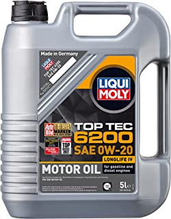 Liqui Moly 20238 TOP TEC 6200 0W20 5L, 169.05 Fluid_Ounces