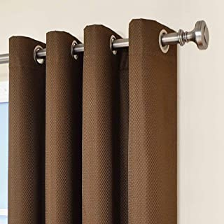 Eclipse Dane Thermal Insulated Single Panel Grommet Top Darkening Curtains for Living Room, 52