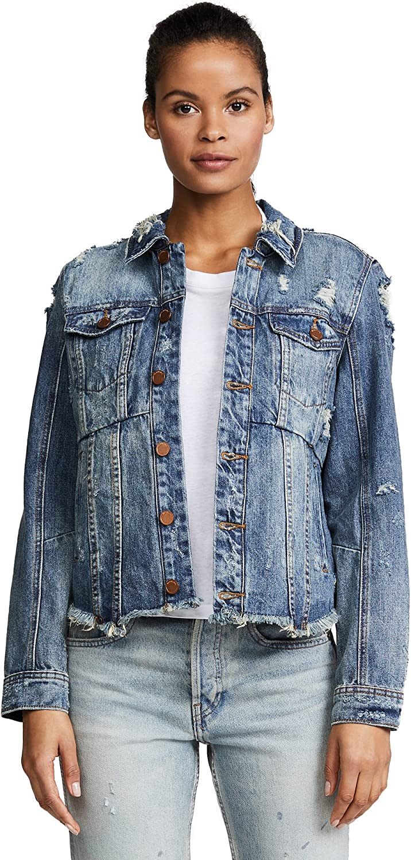 Blank Denim Women's Distressed Denim Jacket