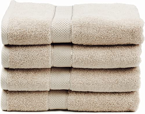 """Premium Bamboo Cotton Bath Towels - Natural, Ultra Absorbent and Eco-Friendly 30"""" X 52"""" (Linen)"""