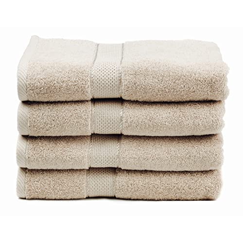 Premium Bamboo Cotton Bath Towels - Natural, Ultra Absorbent and Eco-Friendly 30  X 52  (Linen)