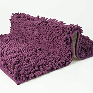 dóff Alfombra baño, Alfombrilla de bañera Antideslizante, Alfombras para baños, púrpura Violeta, Absorbente, Lavable en la...