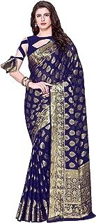 KUPINDA Kanjivaram Style Chiffon Saree Color: Blue (4225-2230-SD-NAVY)