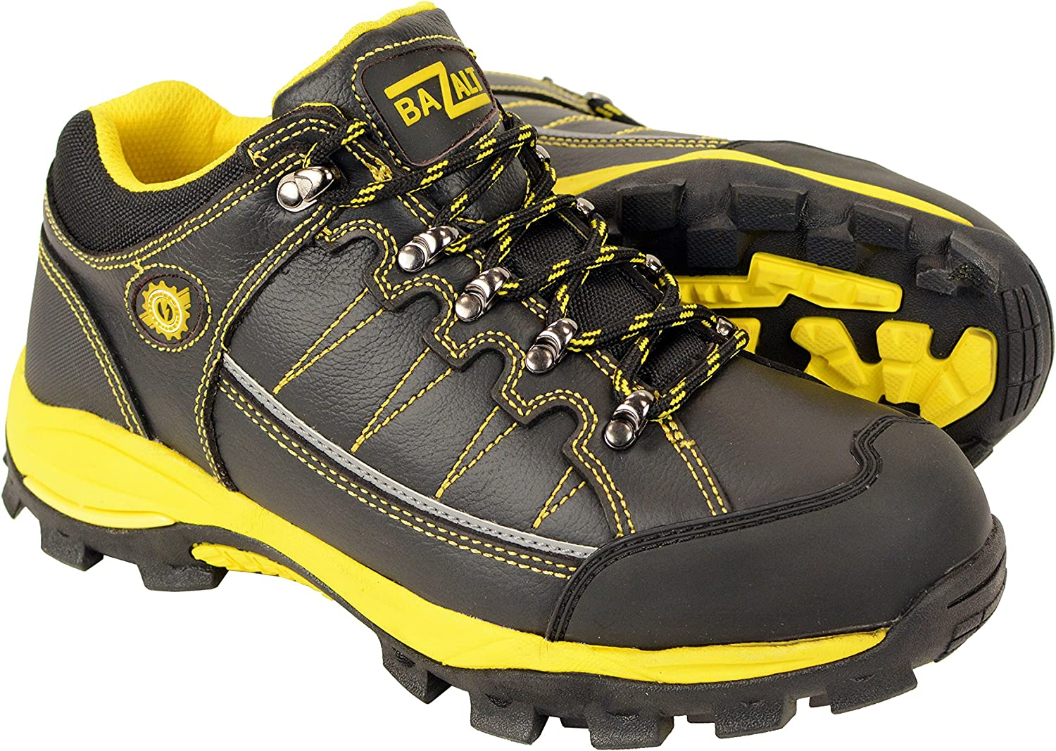 Bazalt Men's Mpm9120 Black and Yellow Water and Frost Proof Leather Outdoor Lace-up Shoes Footwear