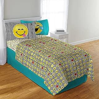 Emoji 3 Piece Microfiber Sheet Set with Pillowcase - Twin