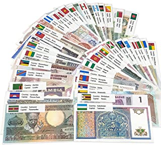 50 World Banknotes from 50 Countries – Nice Variety, Expand Your Currency Collection – Authentic, Uncirculated Suitable fo...