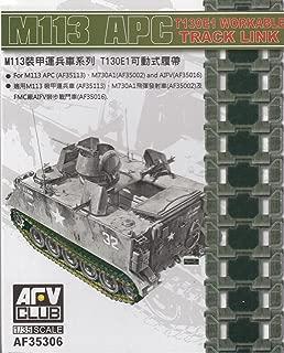 AFV35306 1:35 AFV Club M113 APC T130E1 Workable Track Link Set [MODEL KIT ACCESSORY]
