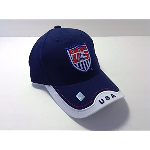 New USA Soccer Cap Hat Adult Size Adjustable Curved Bill World Cup 3 360caf34c95