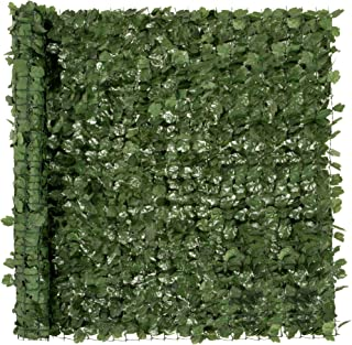 Best Best Choice Products Outdoor Garden 94x59-inch Artificial Faux Ivy Hedge Leaf and Vine Privacy Fence Wall Screen - Green Reviews