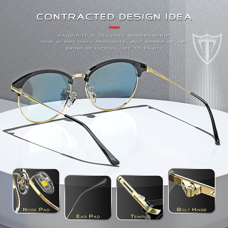 ATTCL Homme lunette anti lumiere bleue Ultra L/éger TR90 Anti fatigue Oculaire Filtre UV Monture de Lunettes
