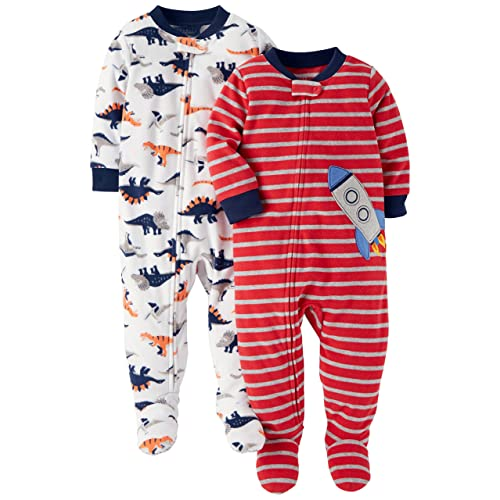 d2546d0e2 Carter's Baby and Toddler Boys' 2-Pack Fleece Footed Pajamas