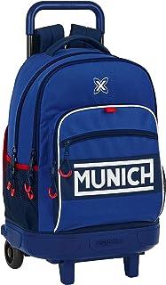 612074918 Mochila Escolar con Carro Incluido y Espalda Acolchada de Munich Retro, 330x220x450mm