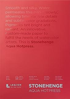 Stonehenge Aqua Watercolor Block, 7 X 10 Inches, 140 Pound, Hot Press, White, 15 Sheets