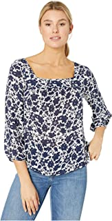 Lucky Brand Women's Liane Square Neck Blouse