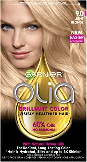 Garnier Olia Ammonia-Free Brilliant Color Oil-Rich Permanent Hair Color, 9.0 Light Blonde (Pack of 1) Blonde Hair Dye
