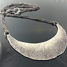 Hand Forged Crescent Necklace Created by VK Designs in Portland OR VK1413