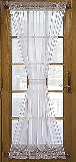 Ricardo Trading 03600-45-036-02 Sea Glass Semi-Sheer Door Panel Natural