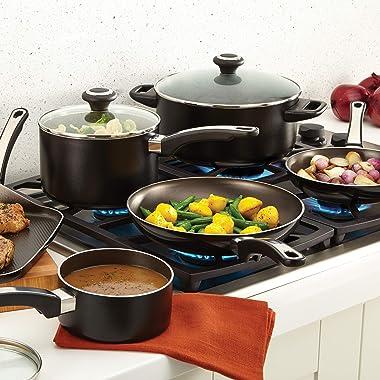 Farberware High Performance Nonstick Cookware Pots and Pans Set Dishwasher Safe, 17 Piece, Black